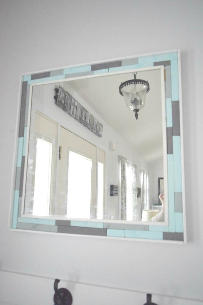 scrap wood mirror frame