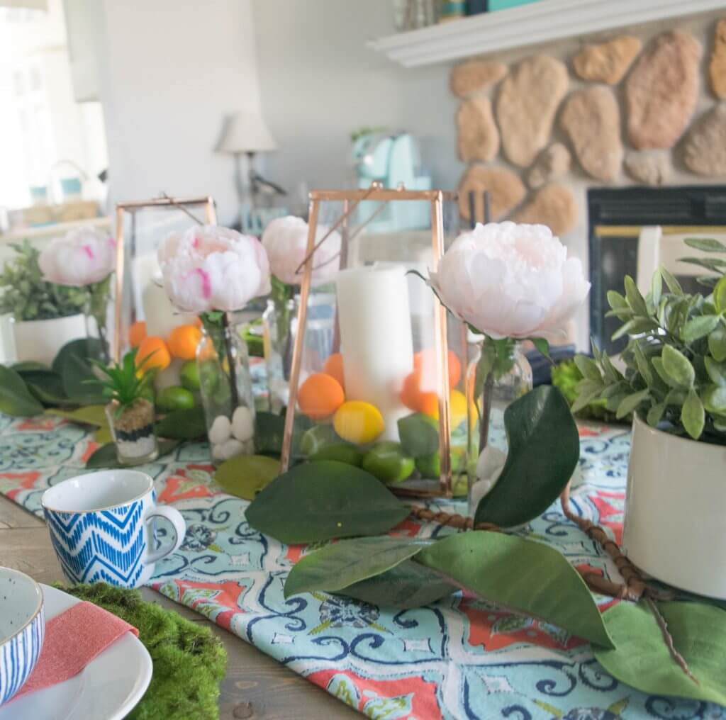 simple and bold spring tablescape