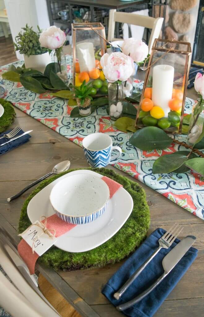 simple to create Spring tablescape