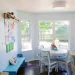 Sun room updates- creating a homework space, storage & redoing chairs