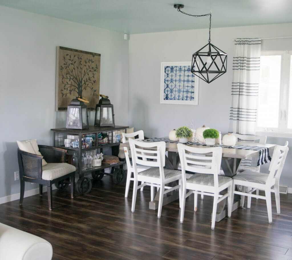 White Fall Dining Room Decor Ideas (1 Of 1) • Our House